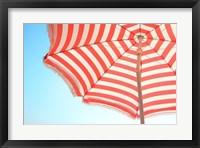 Framed Beach Umbrella and Sky