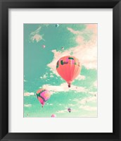 Framed Colorful Hot Air Balloons