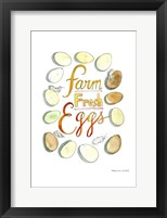 Framed Farm Fresh Eggs