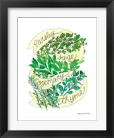 Framed Parsley Sage Rosemary Thyme