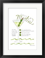 Framed Dirty Martini