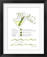 Framed Dirty Martini