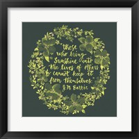 Framed Sunshine Quote