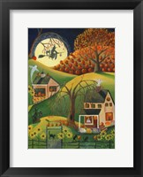 Framed Halloween Witches House