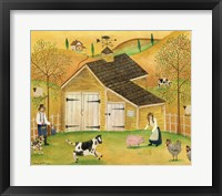 Framed Yellow Barn