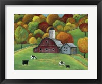Framed Colors of Autumn Barnyard