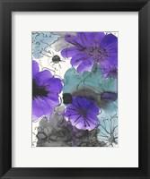 Framed Purple And Black