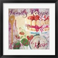 Framed Family Recipe Charlotte Russe