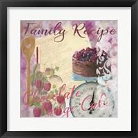 Framed Family Recipe Chocolate Fudge Cake