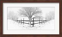 Framed Snowy Landscape