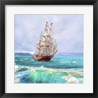 Framed Sailing The Ocean