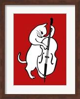 Framed Jazz Cat
