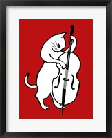 Framed Jazz Cat
