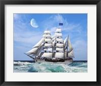 Framed Sailing The Ocean 6