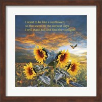 Framed I Want to be a Sunflower