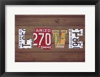 Framed AZ State Love