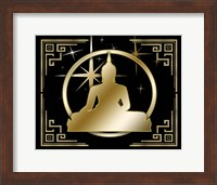 Framed Art Deco Buddha 3