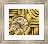 Framed Art Deco Clock