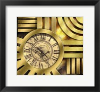 Framed Art Deco Clock