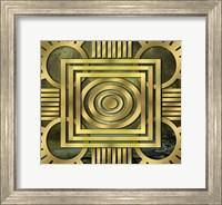 Framed Art Deco Design Forest