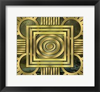 Framed Art Deco Design Forest
