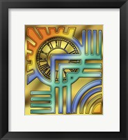 Framed Colorful Clock