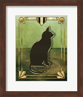 Framed Deco Cat 1