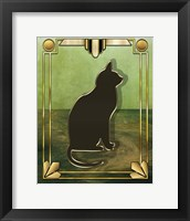 Framed Deco Cat 1