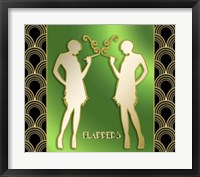 Framed Art Deco Flappers