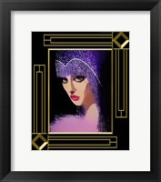 Framed Woman In Purple Hat Frame 3
