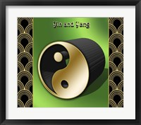 Framed Yin And Yang 3D