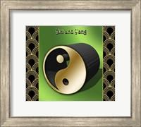 Framed Yin And Yang 3D