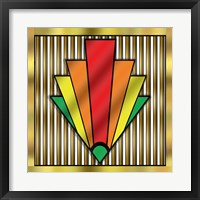 Framed Art Deco Chevron 1