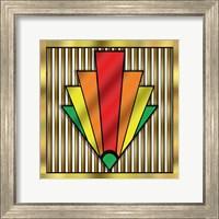 Framed Art Deco Chevron 1