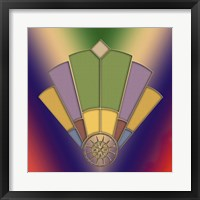 Framed Art Deco Fan 2