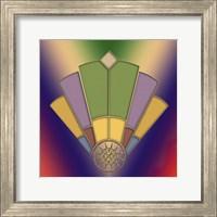 Framed Art Deco Fan 2