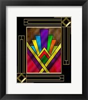 Framed Art Deco Design 7B