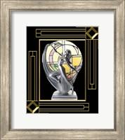 Framed Art Deco Lamp