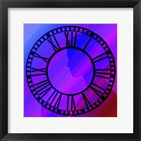 Framed Clock Face on Purple