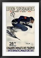 Framed French Ski Competition 1939
