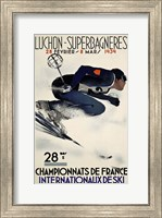 Framed French Ski Competition 1939