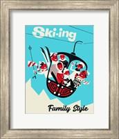 Framed Skiing Family Style