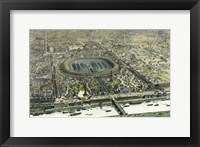 Framed Birds Eye View Of The Universal Exposition In Paris 1867