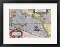 Framed Italian Map Of The Pacific Ocean1589