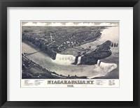 Framed Map Of Niagara Falls With Legend 1882