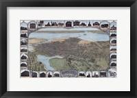 Framed Map Of Oakland California1900
