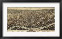 Framed Map Of Wilmington Delaware 1874
