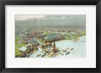 Framed Official Birdseye View World's Columbian Exposition, Chicago 1893