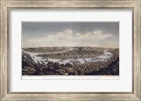 Framed View Of Pittsburgh And Allegheny Pennsylvania 1874