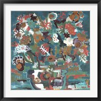 Framed Floral Abstract